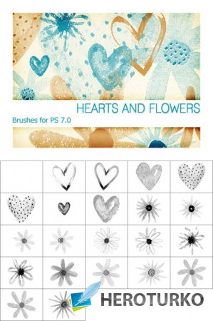 Hearts&Flowers Brushes