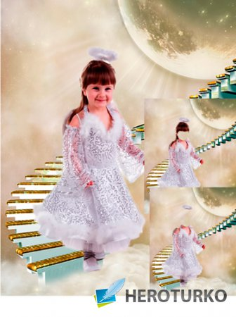 Шаблон для фотошопа – Ангелок с небес