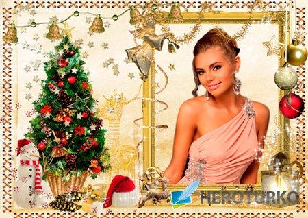 Рамка для фото - Золотое Рождество