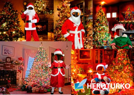Шаблоны для фотошопа – Маленькие Санта Клаусы