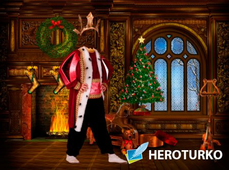 Шаблон для фотошопа - Рождественский король