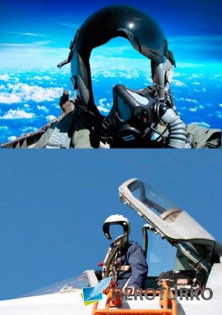 Шаблоны для фотошопа  - Летчики истребители