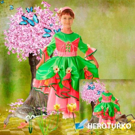 Шаблон для фотошопа - Пришла весна