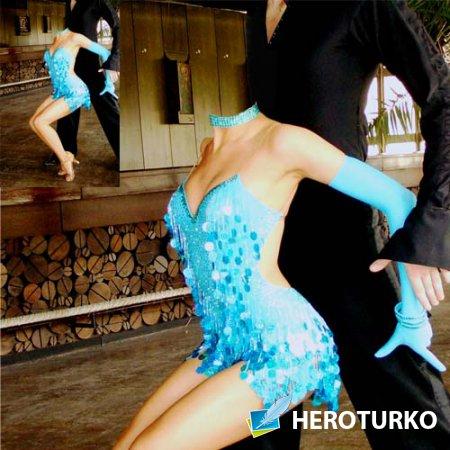 Женский шаблон - Девушка в ярком платье