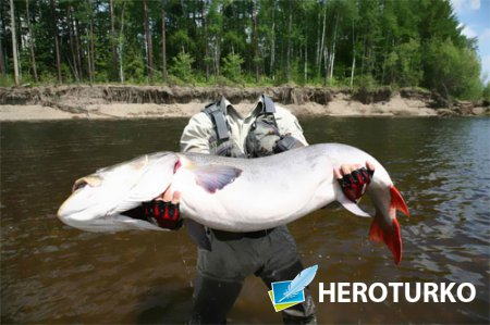 Шаблон для photoshop - Большая рыбалка