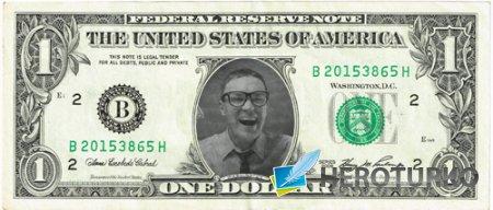 Рамка для фотографии - Ваше лицо на американском долларе