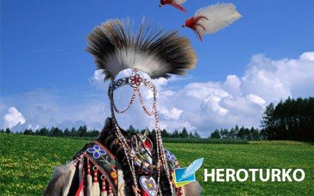 Шаблон для фото - В наряде индейского вождя