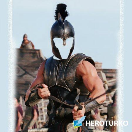 Мужской шаблон - Героический воин в доспехах