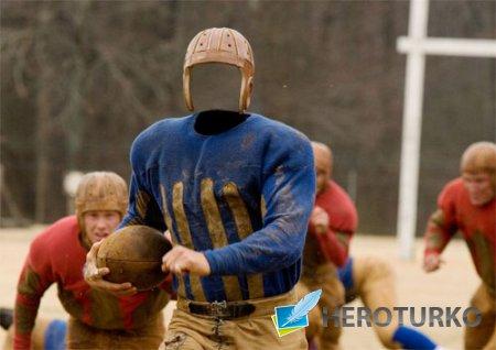 Шаблон для мужчин - Футболист в американском футболе