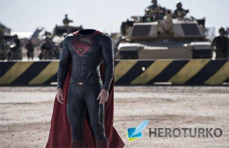 Шаблон для фото - Костюм superman
