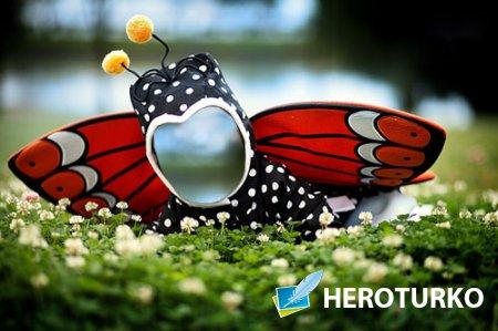 Шаблон для фотомонтажа - Крохотная бабочка