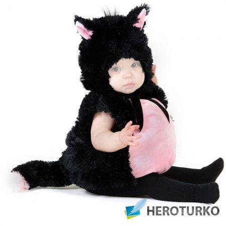 Шаблон детский - Пушистенький котёнок