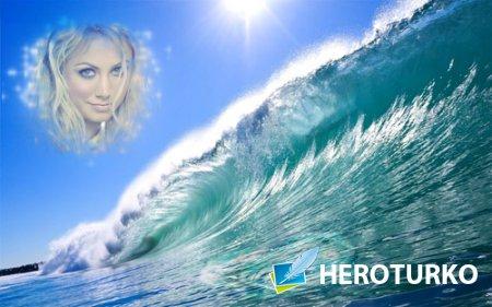 Рамка psd - Морская волна