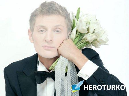 Шаблон мужской - Молодой человек с шикарным букетом тюльпанов