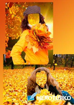 Шаблоны для фотошоп – Осень золотая