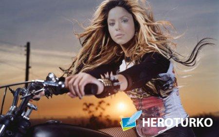 Шаблон женский - Поездка на мотоцикле вечерком