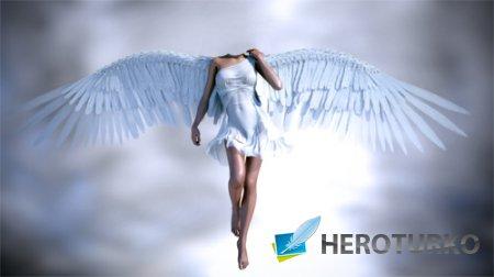 Шаблон для фотомонтажа - Ангел в полете
