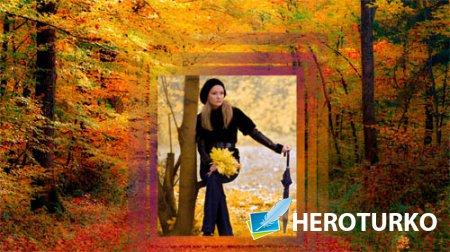 Рамка для фотошоп - Осенний парк