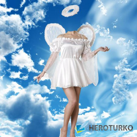 Женский шаблон - Девушка ангел