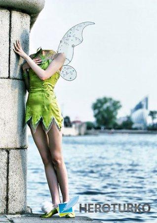 Шаблон для девушек - Сказочная фея у воды