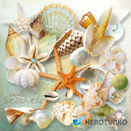 Большой морской скрап-комплект - Свист моря