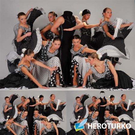 Мужской шаблон - Известный танцор с девушками