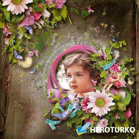 Очаровательный цветочный скрап-комплект - Волшебный полет
