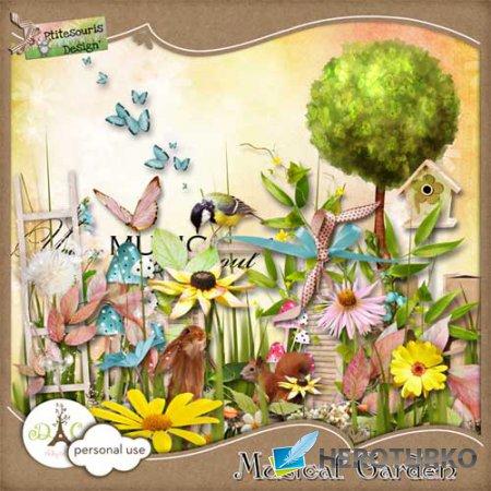 Цветочный скрап-комплект - Музыкальный сад