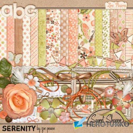 Цветочный скрап-комплект - Безмятежность