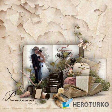 Романтический скрап-комплект - Пусть память снова живёт