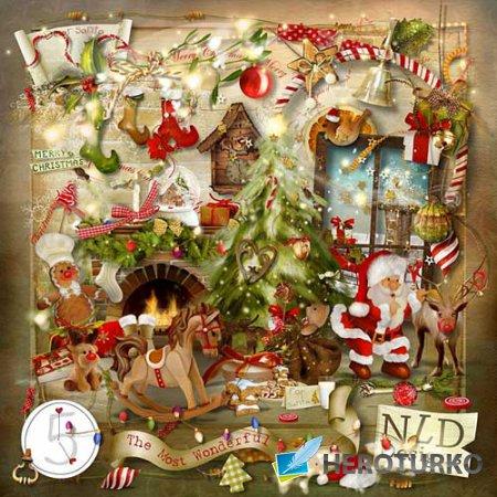 Прекрасный новогодний скрап-комплект - Самое замечательное время