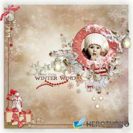 Зимний скрап-комплект - Зимний ветерок
