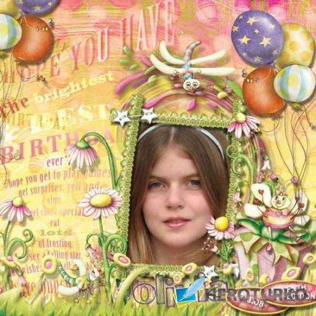 Детский праздничный скрап-комплект - Buzi bugs Birthday