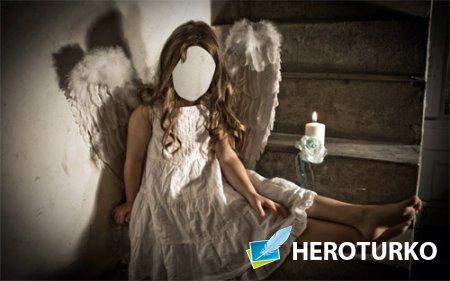 Шаблон для малышей - Девочка в костюме ангела