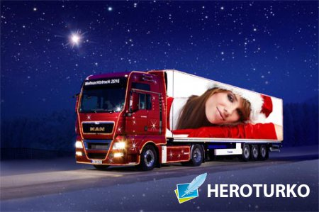 Рамка для фотографии - Ваше фото на тенте грузовика