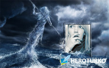 Рамка для фотошоп - Мифический шторм