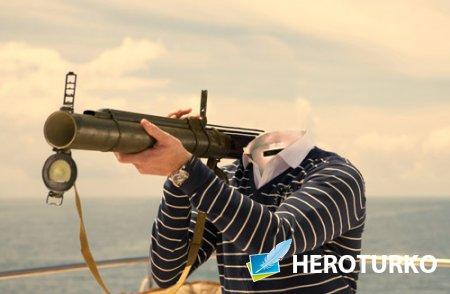 Мужской шаблон - Спецагент с оружием