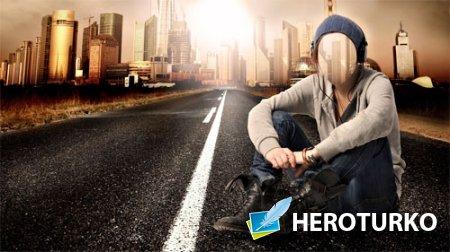 Шаблон для Photoshop - По дороге в мегаполис
