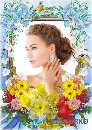 Цветочная рамка для фото - Нежность весны