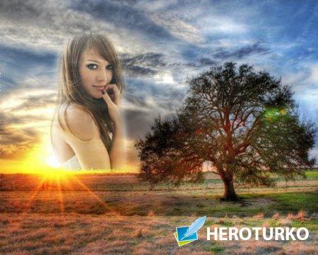 Рамка для фото - Красивый пейзаж