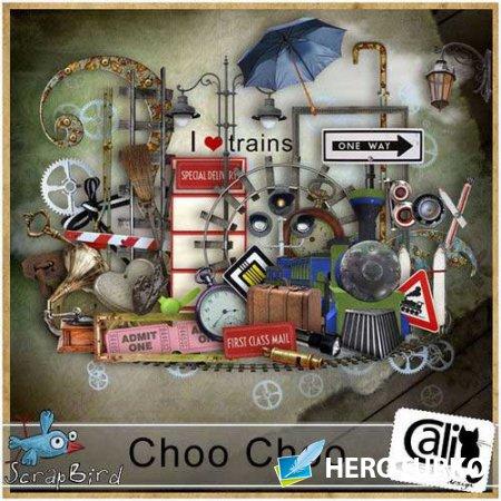 Интересный железнодорожный скрап-комплект - Choo Choo