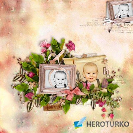 Винтажный цветочный скрап-комплект - Винтажные розы