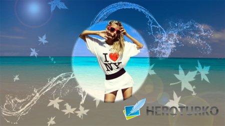 Рамка для фотошоп - На берегу океана