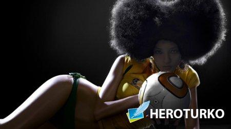 Шаблон для девушек - Болельщица футбола