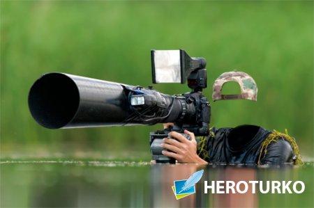 Шаблон мужской - Фотограф в засаде