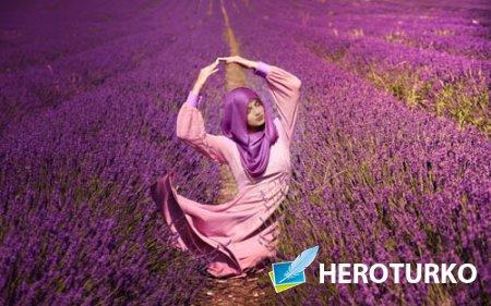 Шаблон для фотомонтажа - Красивейшее лавандовое поле