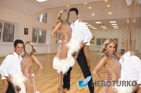 Шаблон для фотомонтажа - Пара в танце