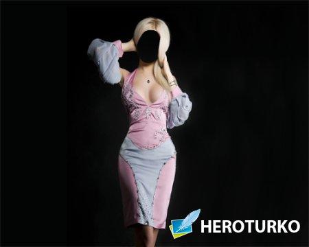 Шаблон для девушек - Девушка в платье фотосессия