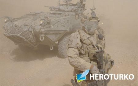 Шаблон для фото - Армия и песчаная буря