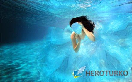 Шаблон для девушек - Под водой в платье